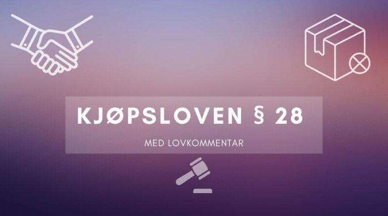 Kjøpsloven § 28