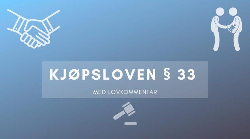 Kjøpsloven § 33