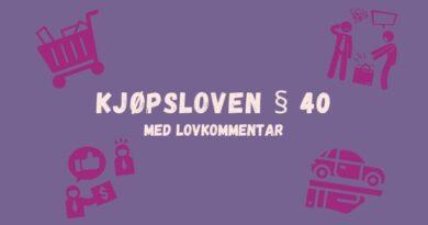 Kjøpsloven § 40