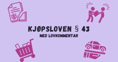 Kjøpsloven § 43