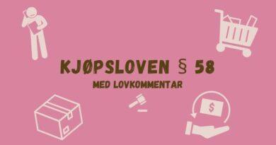 Kjøpsloven § 58