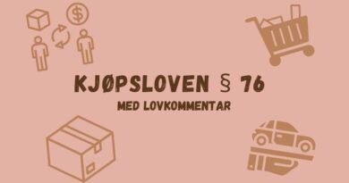 Kjøpsloven § 76