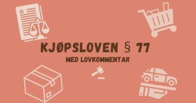 Kjøpsloven § 77