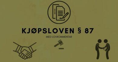 Kjøpsloven § 87