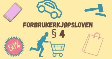Forbrukerkjøpsloven § 4
