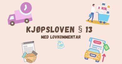 Kjøpsloven § 13